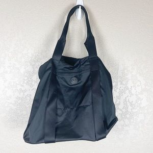 Lululemon black nylon gym tote bag